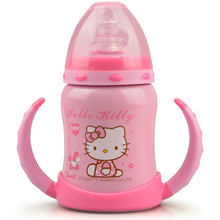 Retail Pink Hello Kitty Blue Doraemon Stainless Steel 6~12Hours Insulation 120ML Baby Hello Kitty Vacuum Flask Water Bottles