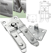 2pcs/set Sectional Sofa Furniture Connector Snap Furniture Hinge for Home Sofa Connectors(China)
