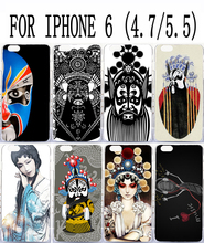 Soft TPU Hard Plastic Chinese Drama Pattern Custom cell phone back case cover skin Shell for apple iphone 6 4.7 5.5 cases covers