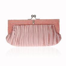 Sweet Ladylike Style Lolita Cosmetic Bag Elegant Women Ruched Makeup Bags  Socialite Bridal Wedding Party Bag 1e34f0159759