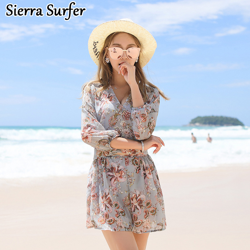 Swimming Suit For Women Mujer Vrouwen Beachwear Woman Swimwear Plus Size 2018 New Swimsuit Breasted Skirt Sexy Three Piece<br>