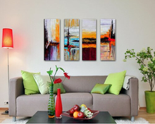 Cherish wall Art HandPainted Oil Painting Abstract modern Landscapes on Canvas for Home Decorations wall Art Work wedding gift(China)