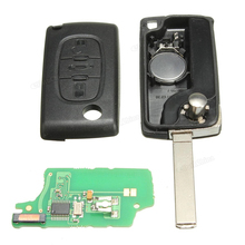Durable 3 Buttons Remote Key Supports Remote Function For PEUGEOT / CITROEN /BERLINGO