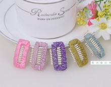 Wide plain comb clip BB hairpin hair clip Tactic leave hair clip to Yorkshire headdress pet accessories 50pcs(China)