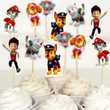 72pcs/lot Cute dog patrol football basketball toy story sports boy Cupcake Toppers Pick decoration kids birthday party supplies