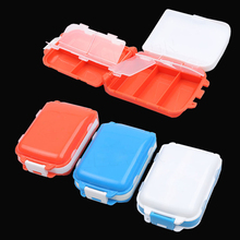 Pill Cases One Piece Hot Sale Foldable Square Pill Case Daily Drug Medicine Portable Pill Box Makeup Storage Container