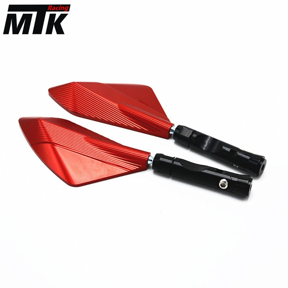 CNC Motorcycle Mirror Scooter Cruiser Chopper Universal Rearview Mirrors KAWASAKI Z900 Z650 2017