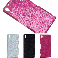 Top rated Sexy lady Shiny bling football skin glitter party Hard rigid PC Case Cover For Sony for Xperia Z3 shell back cover