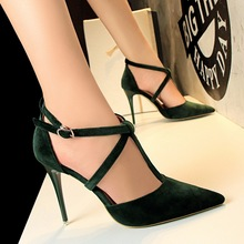 BIGTREE New Pumps Spring summer High-heeled Shoes Fashion Pink High Heel Shoes Hollow-out Pointed Stiletto Elegant Woman shoes