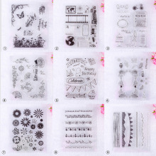 Transparent Artistic Graffiti Flower Silicone Stamp for DIY Scrapbooking/Photo Album Decorative Clear Stamp Sheet #230707