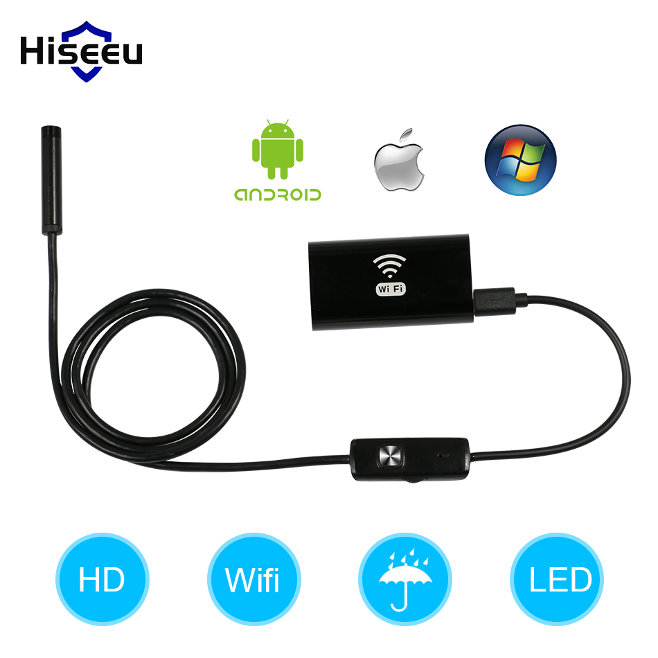 Wireless Endoscope camera Waterproof IP67 USB Borescope Inspection camera 1M 2M 3.5M 5M for android ios phone IR led snake tube<br>
