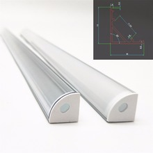 5pcs 20inch 0.5m 12mm pcb 45 degree corner led aluminium profile, led aluminum channel, V shape aluminum housing(China)