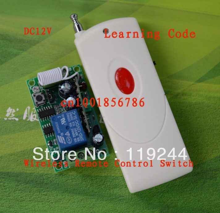 Free shipping 12V 1ch RF wireless remote control switch For guard door/window/curtain 315MHZ /433MHZ transmitter and receiver<br><br>Aliexpress
