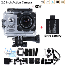 2xBatteries 2.0 inch LCD 14MP Action Camera hero3 4 Style 1080P HD DV Cam 30M Waterproof Sport mini Camara HD DV Free shipping