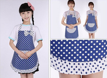 New Brand Kids Children Lovely Apron Kitchen Cooking Baking Dining Bib Craft Princess Polka Dot Girls Aprons