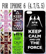 Soft TPU Hard Plastic Cool Background with Keep Calm words Custom mobile cell phone case for apple iphone 6 4.7 iphone6 plus 5.5