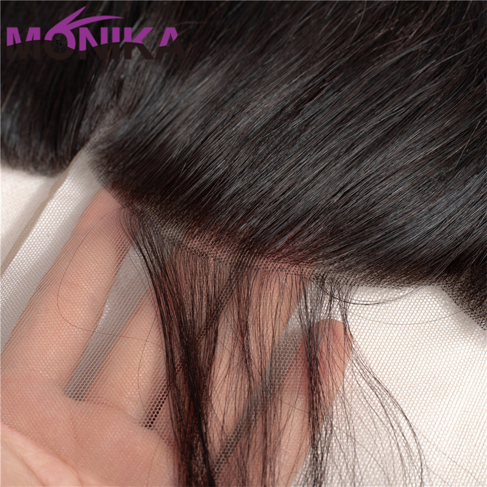Monika Hair Brazilian Body Wave Lace Frontal FreeMiddle Part Ear to Ear Human Hair Lace Closure Non Remy 13x4 Full Lace Frontal (4)