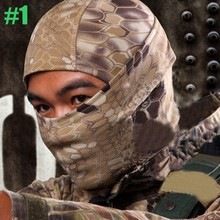Breathable Chiefs Rattlesnake Cam Tactical Mask Airsoft Paintball Full Face Mask Motorcycle Hunting Balaclava helmets Accessorie