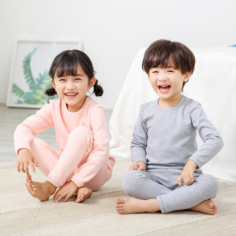 2018 Cotton Children'S Pajamas Sets Keep Warm Baby Girls Boys Clothes Kids Boy Girl Pyjamas Set Long Sleeve Tops+Pants 2Pcs