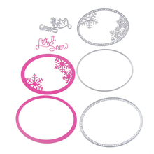 Let it Snow Set Metal Stencil Embossing Cutting Dies 3D DIY Scrapbooking Craft Photo Invitation Cards Decoration 110*86mm