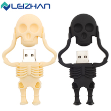 LEIZHAN USB Flash Drive Skull Pen Drive 64G 32G 16G 8G 4G Skull Model Memory Stick USB Pendrive USB 2.0 Storage Device U Disk