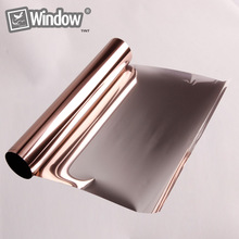 Mirror Brown 10% VLT Solar Reflective Window Film Privacy Tint 50cmx150cm