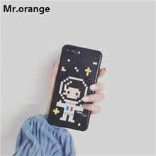 Mr.orange Luxury Legos Blocks Astronauts Sailor moon Back Cover Phone Case For Apple iPhone 6 6S 7 7 Plus Phone Bag Dismantled