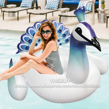 190*160*140cm Giant Inflatable Peacock Pool Float 2017 New Peahen Water Toys For Adults Unicorn Floats Swimming Board Piscina