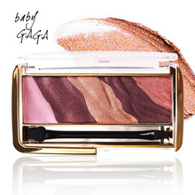 BABY GAGA Golden mark Baked Bright eye shadow palette healthy herbs pigment make up natural naked matte eyeshadow
