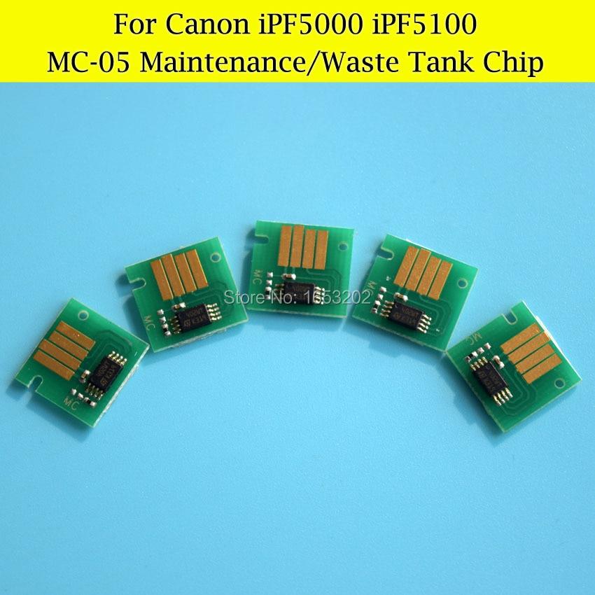 5 PCS/Lot MC-05 Waste Ink Tank Chips For CANON IPF5000 IPF5100 Maintenance Tank<br><br>Aliexpress