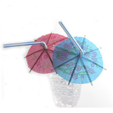 100 pcs/lot New Design Drinking straw Festival Decor Party 3D Paper Straws Umbrella Straws Party Decoration Assorted Supply