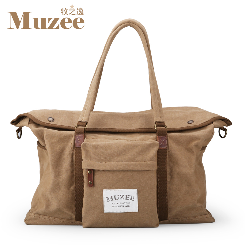Free shipping Muzee men Large capacity handbags Canvas travel package Single shoulder bag ME_8156<br>