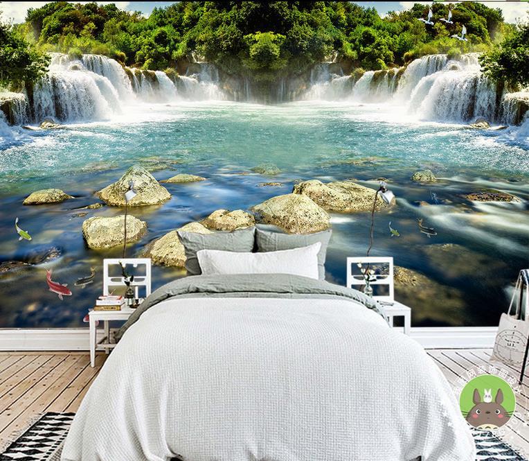 Custom modern wallpaper murals waterfall wallpaper mural luxury wall paper photo wall papers home decor living room<br><br>Aliexpress