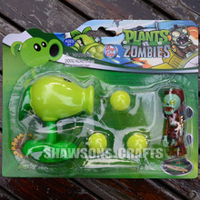 PLANTS VS ZOMBIES TOYS PVC PEASHOOTER WITH COWBOY ZOMBIE ACTION FIGURE