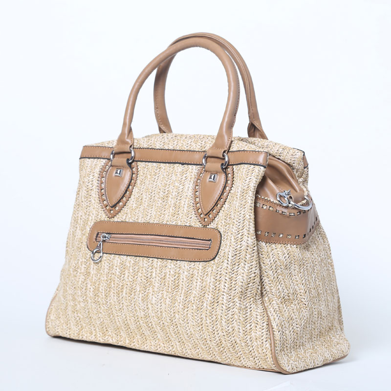 40x30CM  Summer Models Single Shoulder Crochet Windfall Woven Bag Handbags Workplace Commune Straw bag A2963<br>
