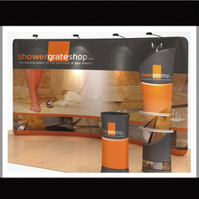 20ft portable tension fabric trade show display pop up booth exhibit with custom graphic printing