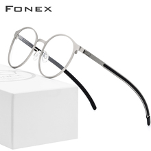 FONEX Prescription Eyeglasses Optical-Glasses-Frame Myopia Ultralight Round Full-Screwless-Eyewear