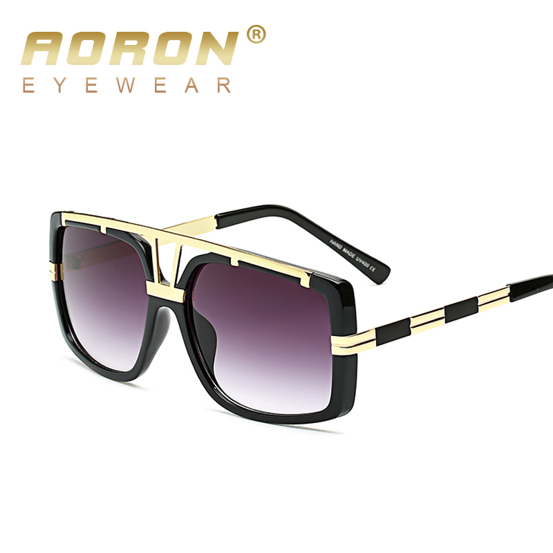 Fashion Vintage Square Sunglasses Big Frame Men Women Retro Glasses UV400 HD Lens Brand Designer Driving Eyewear Oculos de sol<br><br>Aliexpress