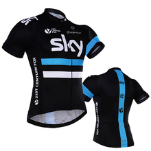 4 colors 2016 sky Cycling jersey polyester quick-dry pro bluesky bike jersey MTB Ropa Ciclismo white skyBicycling maillot shirts