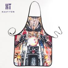Kitchen Apron Tablier Bibs Motorcycle Men and Women Funny Cooking Baking Party Cleaning Cool Apron Use in Kitchen Cooking F(China)
