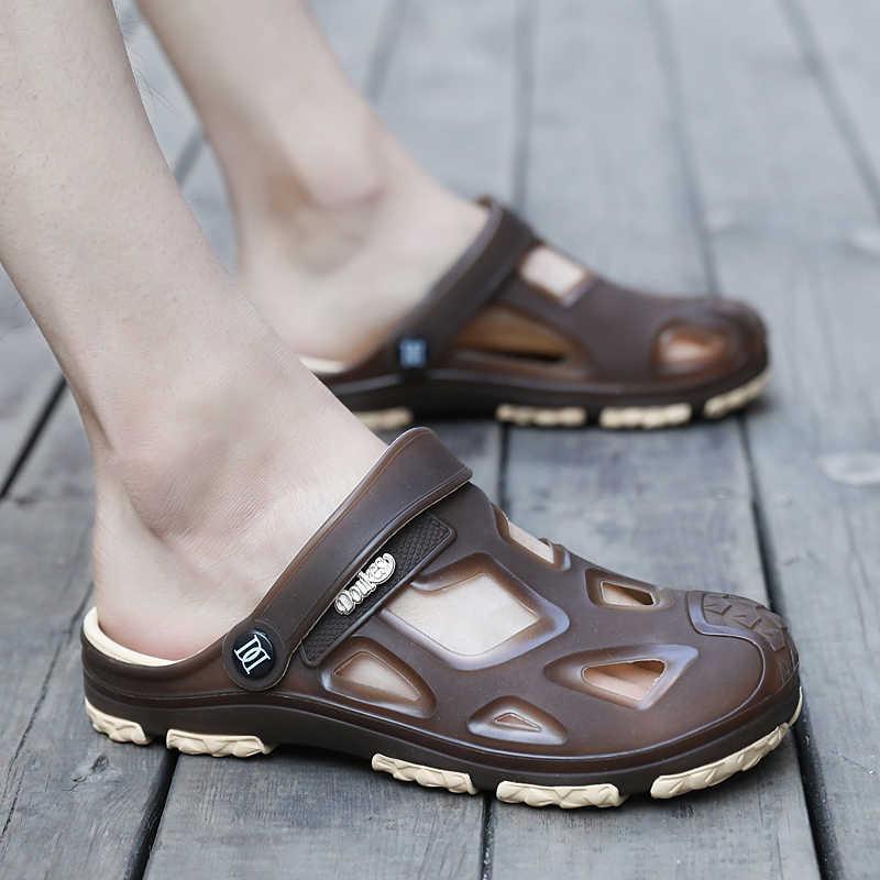 a659c7ad3773 Men Water Sandals Summer Slippers Lightweight Croc Beach Swimming Lite  Rainbow Band Ride Flip Flops Aqua