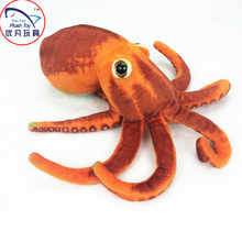 2016 hot sale octopus stuffed toy plush sea animal realistic design 30# red octopus toy