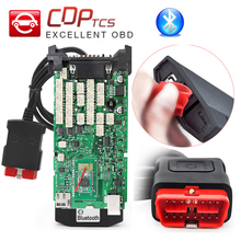 OBD2 cdp tcs cdp pro diagnostic tool A+ Quality Single Green PCB Multidiag Pro+ with Bluetooth Cars Trucks OBDII OBD 2 Scanner(China)
