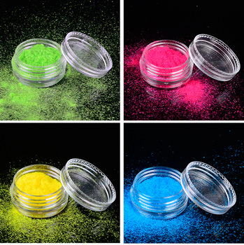 1.5g 3D Pigments Sequins Nail Sugar Glitter Dust Powder Polish Gel Girl Color Dazzling Nail DIY Pearl Tips Deco