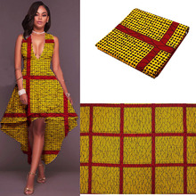 2017 gold Africa Super Wax Hollandais tissu wax ankara 100% cotton high quality soft real batik block prints hollandis wax