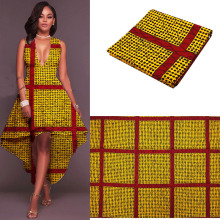 2017 gold Africa Super Wax Hollandais tissu wax ankara 100% cotton high quality soft real batik block prints hollandis wax(China)