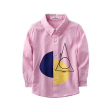 2017 New Arrival School Girl Blouse Turn Down Collar Cotton Fashion Casual Full Sleeve Spring Autumn Child Shirt for Boys