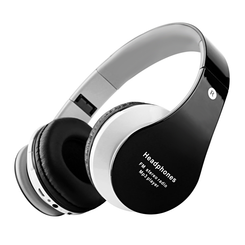 New Wireless Stereo Bluetooth 3.0 + EDR Headband Earphone Headset with Mic MP3 FM Radio Auriculares for Smart Phones Tablet PC<br><br>Aliexpress
