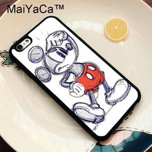 MaiYaCa Mickey The Mouse Sketch Printed Phone Case For iPhone 6 6S Phone Bags For iPhone 6S 6 Back Cover Funda Shell