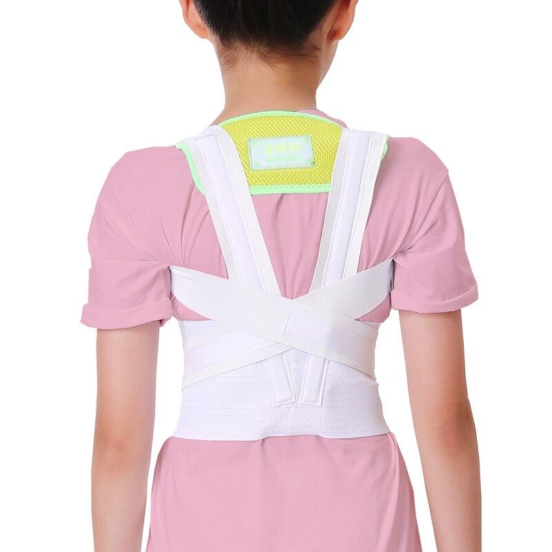 SIRSENAR Newly Children Kids Adjustable Magnetic PostureCorrector Belt Body Back Support Shoulder Belt Kyphosis correction belt<br>
